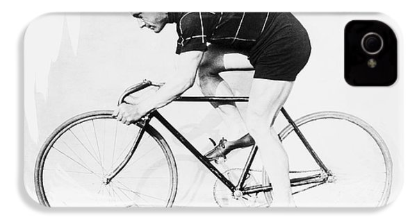 The Bicyclist - 1914 IPhone 4 / 4s Case by Daniel Hagerman