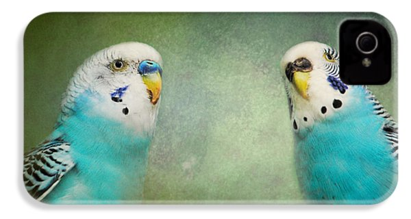 The Budgie Collection - Budgie Pair IPhone 4 / 4s Case by Jai Johnson