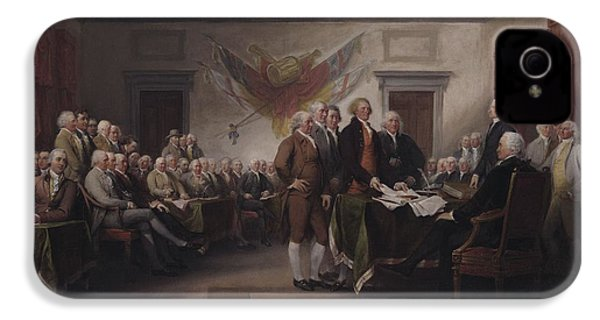 The Declaration Of Independence, July 4, 1776 IPhone 4 / 4s Case by John Trumbull