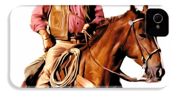 The Duke  John Wayne IPhone 4 / 4s Case by Iconic Images Art Gallery David Pucciarelli