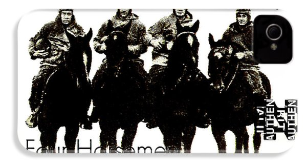 The Four Horsemen Of Notre Dame IPhone 4 / 4s Case by David Patterson
