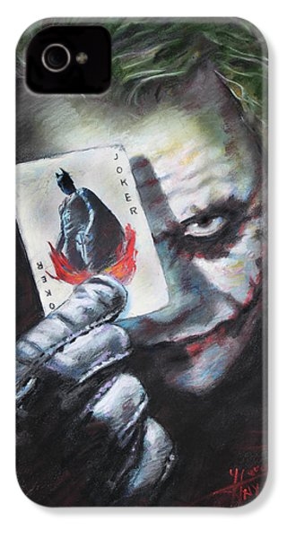 The Joker Heath Ledger  IPhone 4 / 4s Case by Viola El