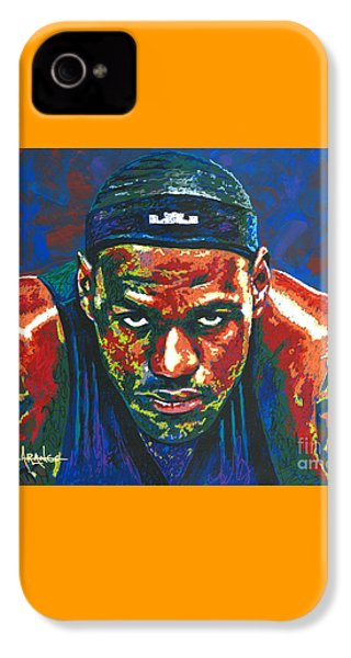 The Lebron Death Stare IPhone 4 / 4s Case by Maria Arango