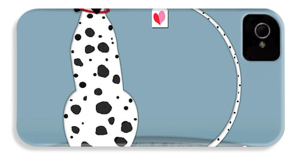 The Letter D For Dalmatian IPhone 4 / 4s Case by Valerie Drake Lesiak