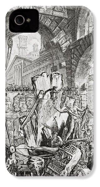 The Man On The Rack Plate II From Carceri D'invenzione IPhone 4 / 4s Case by Giovanni Battista Piranesi