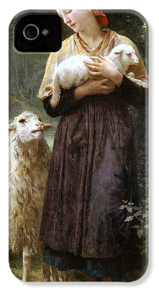 The Newborn Lamb IPhone 4 / 4s Case by William Bouguereau