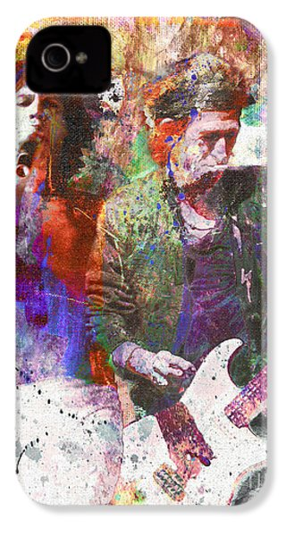 The Rolling Stones Original Painting Print  IPhone 4 / 4s Case by Ryan Rock Artist