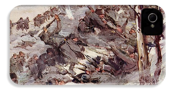 The Russians Fighting Their Way Over The Carpathians IPhone 4 / 4s Case by Cyrus Cuneo
