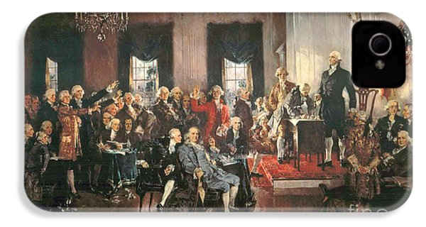 The Signing Of The Constitution Of The United States In 1787 IPhone 4 / 4s Case by Howard Chandler Christy