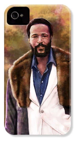 The Silky Silky Soul Singer - Marvin Gaye  IPhone 4 / 4s Case by Reggie Duffie