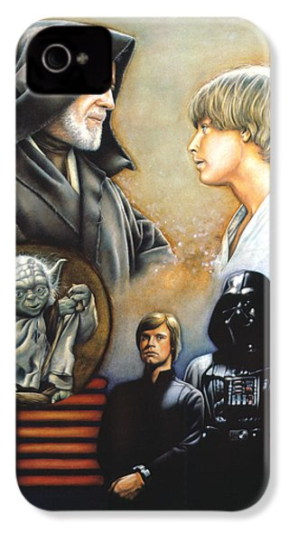 The Way Of The Force IPhone 4 / 4s Case by Edward Draganski