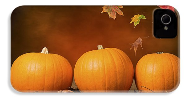 Three Pumpkins IPhone 4 / 4s Case by Amanda Elwell