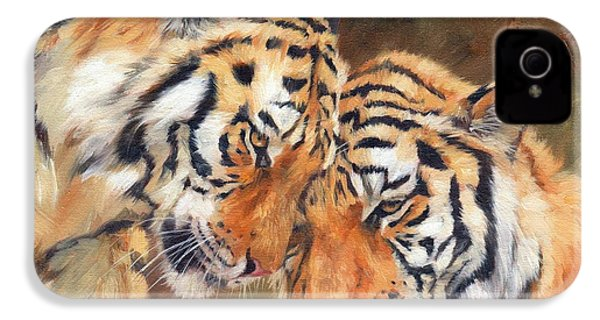 Tiger Love IPhone 4 / 4s Case by David Stribbling