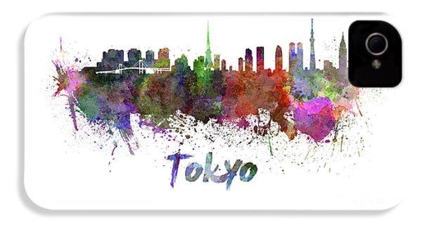 Tokyo Skyline In Watercolor IPhone 4 / 4s Case by Pablo Romero