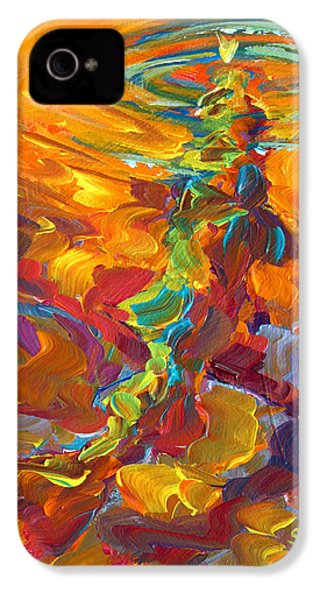 Topwater Trout Abstract Tour Study IPhone 4 / 4s Case by Savlen Art