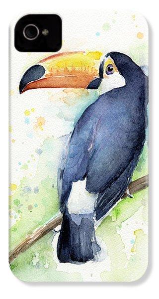 Toucan Watercolor IPhone 4 / 4s Case by Olga Shvartsur