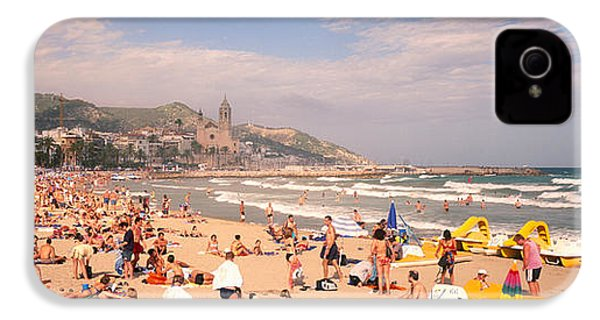 Tourists On The Beach, Sitges, Spain IPhone 4 / 4s Case by Panoramic Images