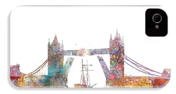 Tower Bridge Colorsplash IPhone 4 / 4s Case by Aimee Stewart