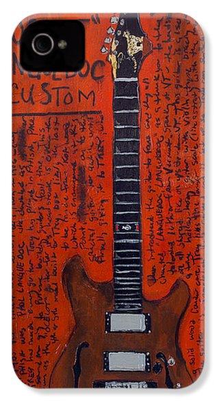 Trey Anastasio Languedoc Guitar IPhone 4 / 4s Case by Karl Haglund