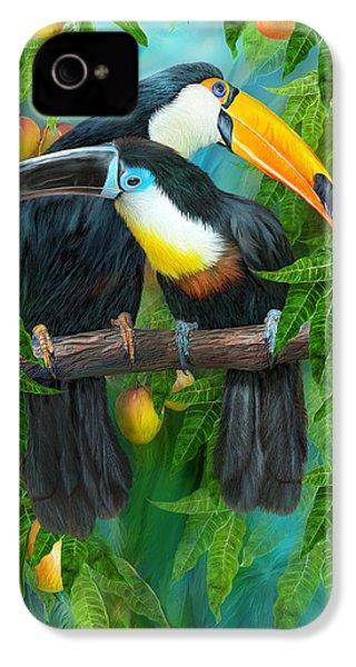 Tropic Spirits - Toucans IPhone 4 / 4s Case by Carol Cavalaris