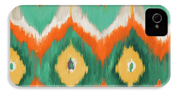 Tropical Ikat II IPhone 4 / 4s Case by Patricia Pinto