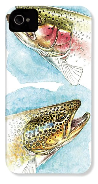 Trout Study IPhone 4 / 4s Case by JQ Licensing