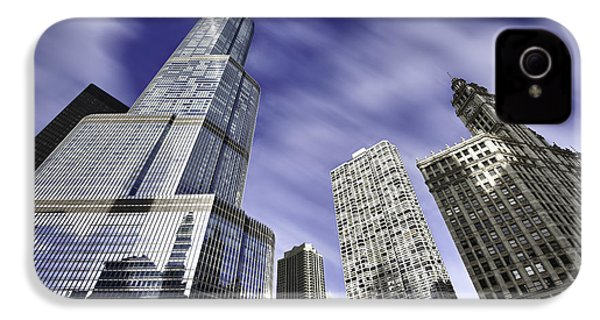 Trump Tower And Wrigley Building IPhone 4 / 4s Case by Sebastian Musial