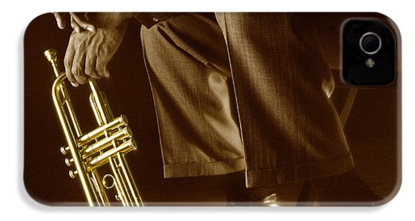 Trumpet 2 IPhone 4 / 4s Case by Tony Cordoza