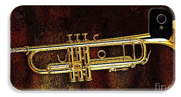 Trumpet IPhone 4 / 4s Case by Marvin Blaine