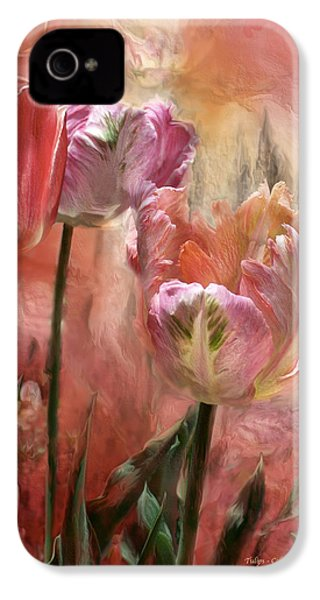 Tulips - Colors Of Love IPhone 4 / 4s Case by Carol Cavalaris