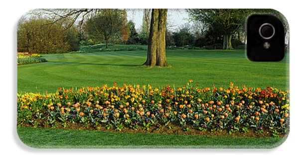 Tulips In Hyde Park, City IPhone 4 / 4s Case by Panoramic Images