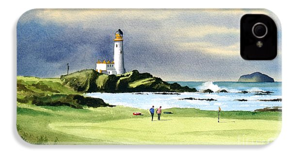 Turnberry Golf Course Scotland 10th Green IPhone 4 / 4s Case by Bill Holkham
