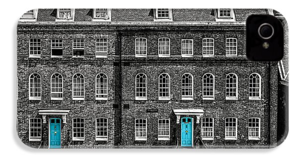 Turquoise Doors At Tower Of London's Old Hospital Block IPhone 4 / 4s Case by James Udall