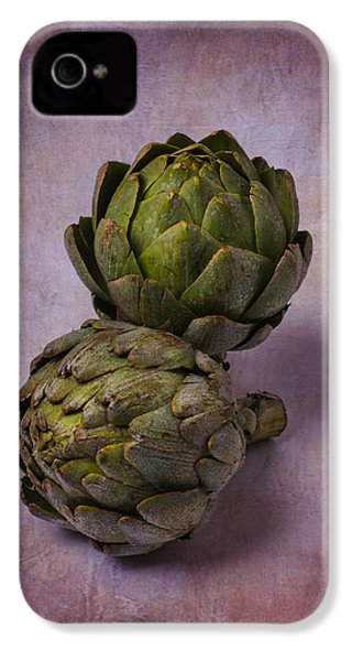 Two Artichokes IPhone 4 / 4s Case by Garry Gay