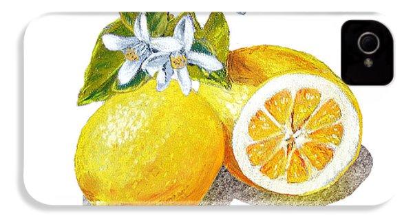 Two Happy Lemons IPhone 4 / 4s Case by Irina Sztukowski