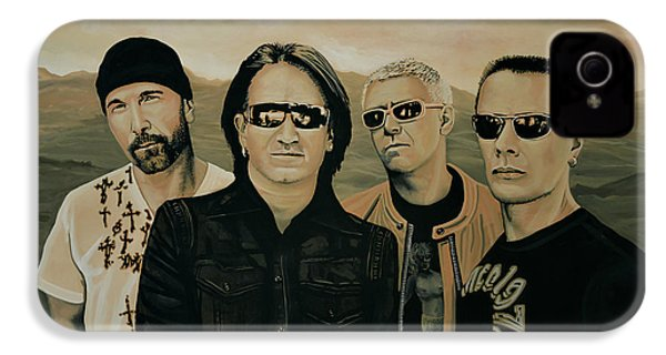 U2 Silver And Gold IPhone 4 / 4s Case by Paul Meijering