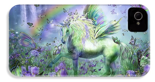 Unicorn Of The Butterflies IPhone 4 / 4s Case by Carol Cavalaris