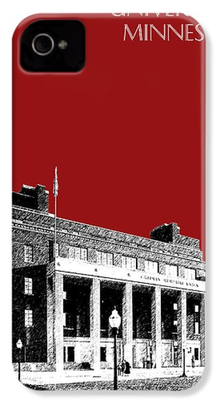 University Of Minnesota - Coffman Union - Dark Red IPhone 4 / 4s Case by DB Artist