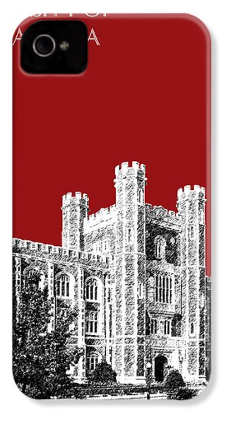 University Of Oklahoma - Dark Red IPhone 4 / 4s Case by DB Artist