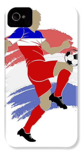 Usa Soccer Player IPhone 4 / 4s Case by Joe Hamilton
