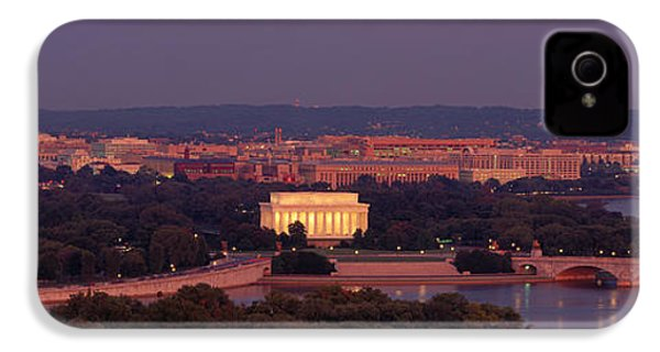 Usa, Washington Dc, Aerial, Night IPhone 4 / 4s Case by Panoramic Images