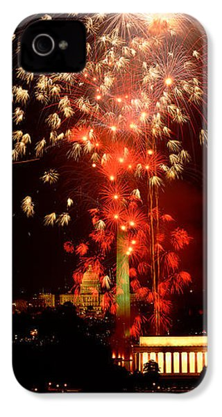 Usa, Washington Dc, Fireworks IPhone 4 / 4s Case by Panoramic Images
