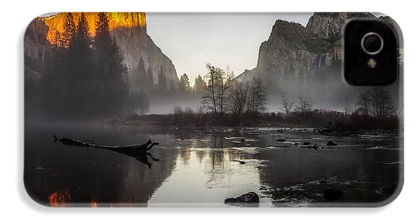 Valley View Yosemite National Park Winterscape Sunset IPhone 4 / 4s Case by Scott McGuire