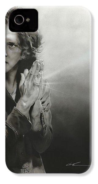 Eddie Vedder - ' Vedder Iv ' IPhone 4 / 4s Case by Christian Chapman Art
