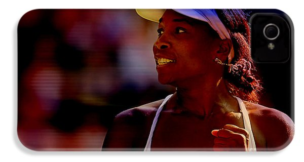 Venus Williams IPhone 4 / 4s Case by Marvin Blaine