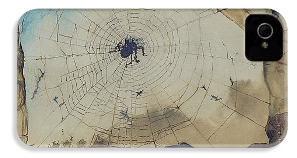 Vianden Through A Spider's Web IPhone 4 / 4s Case by Victor Hugo