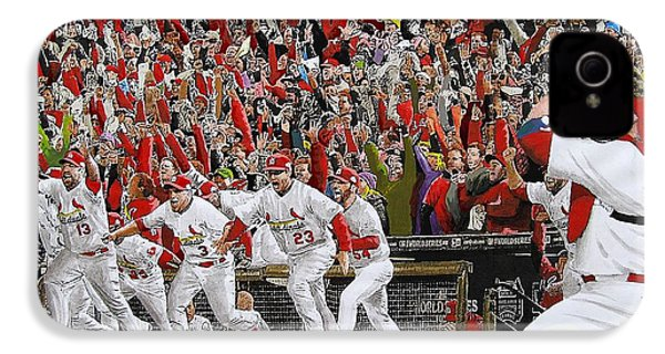 Victory - St Louis Cardinals Win The World Series Title - Friday Oct 28th 2011 IPhone 4 / 4s Case by Dan Haraga