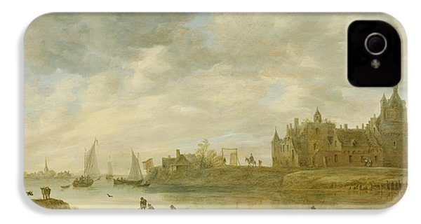 View Of The Castle Of Wijk At Duurstede IPhone 4 / 4s Case by Jan van Goyen