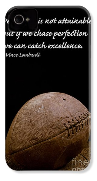 Vince Lombardi On Perfection IPhone 4 / 4s Case by Edward Fielding