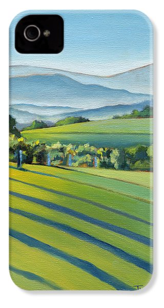 Vineyard Blue Ridge On Buck Mountain Road Virginia IPhone 4 / 4s Case by Catherine Twomey
